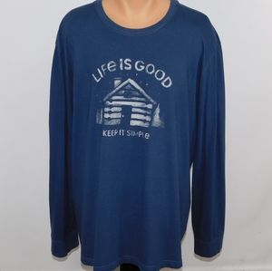 Life is Good long sleeve tee shirt.  XXXL